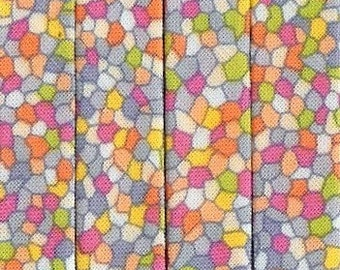Double Fold Bias Tape - Mosaic Medley from Henry Glass