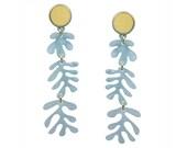 Tendril Earrings in Light Blue Acrylic Perspex