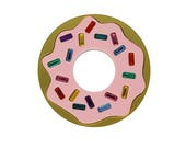 Donuts Forever Brooch, donut brooch, Lapel pin, Badge, Statement jewellery, donut pin, acrylic brooch, gift