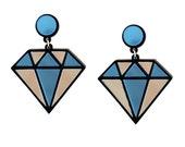 Diamonds Are Forever Earrings, diamond earrings, statement earrings, fun earrings, statement jewelry, gift