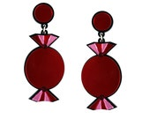Red Quality Treat Sweet Earrings    statement jewelry   kitsch fun earrings   cocktail party jewellery   gifts for her