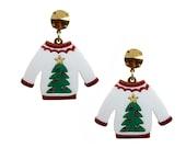 Christmas Jumper Earrings Festive Party