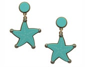 Reach for the Star Earrings in Aqua, perspex earrings, statement earrings, lasercut earrings