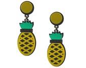 Yellow Pineapples Forever earrings, pineapple earrings, fruit jewelry, statement earrings, statement jewelry, fun earrings, plastic earrings