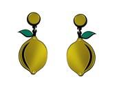 When Life Gives You Lemons Earrings   acrylic earrings   statement earrings   fruit earrings   gift for women   summer earrings