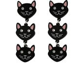 Black Acrylic Cat Drop Earrings   animal jewelry   gifts for her   animal pet lovers   laser cut acrylic   custom