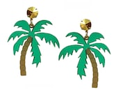 Palm Tree Earrings Tropical Laser Cut Acrylic