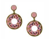 Donuts Forever Earrings, donut earrings, statement earrings, dangle earrings, hoop earrings, acrylic earrings