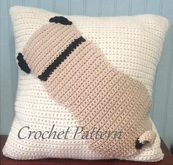 Pug Pillow Crochet Pug Pattern Pug Lover Crochet Etsy