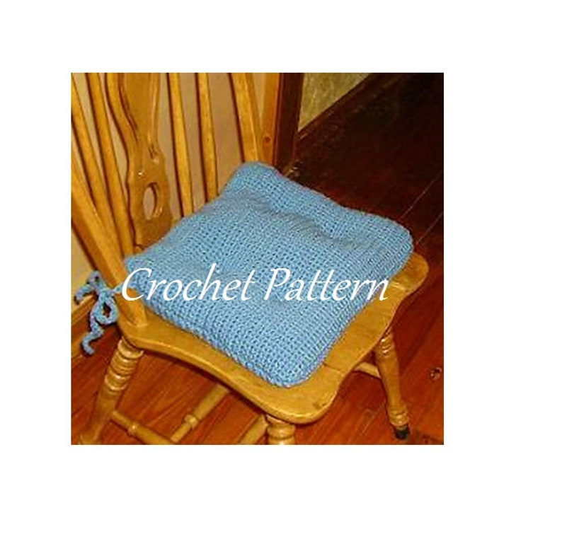 Cushion Pattern Blue Chair Dining Crochet French