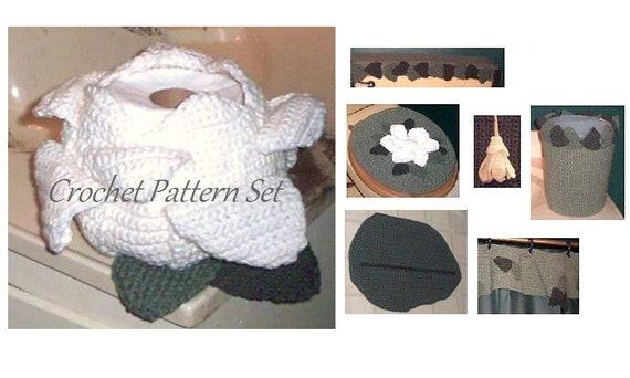 Bath Crochet Pattern Magnolia Bath Set Roll Cover Toilet Etsy