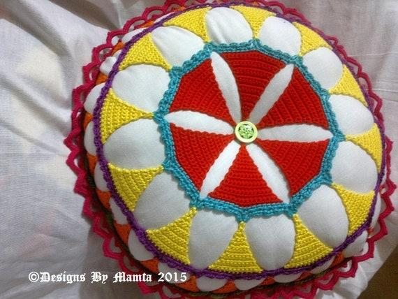 Lace Mandala Pillow Crochet Pattern Accent Cushion Throw Etsy