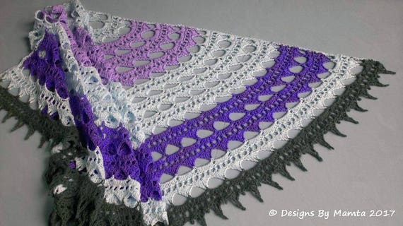 Crochet Sahasrara Shawl Pattern Semi Circle Shawl Lotus Etsy