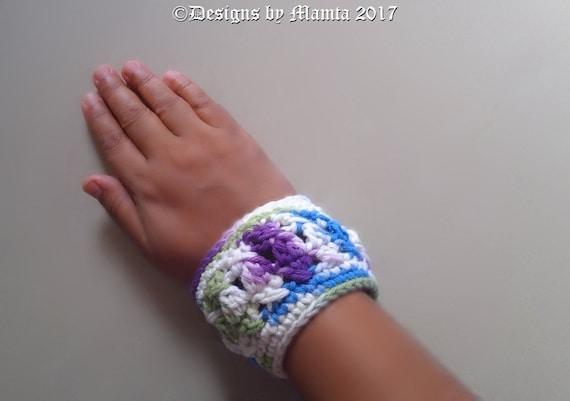 Chunky Textured Cuff Bracelet Pattern Crochet Jewelry Etsy