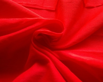 Crimson Red Dupioni Art Silk Fabric Fat Quarter, Candy Red Fabric, Bridal Silk Fabric, Designer Silk Fabrics, Silk Dupioni Fabric, Art Silk
