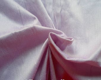Pastel Lilac Purple Dupioni Art Silk Fabric By The Yard, Indian Artificial Silk Fabric, Curtain Drapery Material,Wedding Gown Dress Material