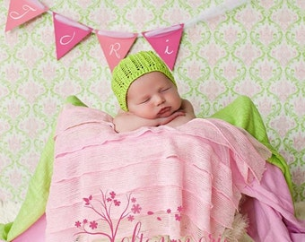 Pink Ruffle Blanket, Newborn Photography Prop, Posing Layer Infant Swaddle Wrap, Soft Cascading Fabric,Solid Pink Baby Ruffle Stretch Fabric
