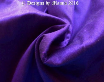 Indigo Silk Dupioni Fabric By The Yard, Purple Art Silk Fabric, Blue Indian Silk Fabric, Curtain Material, Sewing Quilting Fabric
