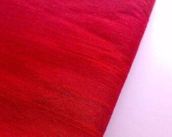 Lust Red Dupioni Art Silk Fabric By The Yard, Indian Fabric, Bridal Silk Fabric, Designer Silk Fabrics, Silk Dupioni Fabric, Indian Fabrics