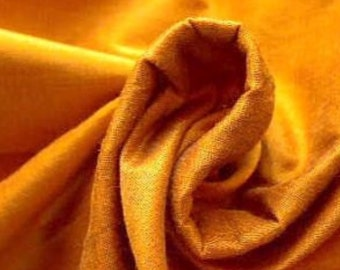Goldenrod Indian Art Silk Fabric By The Yard, Iridescent Gold Dupioni Silk Bridesmaid Fabric, Dressmaking Fabric, Gold Dupion Silk Fabric