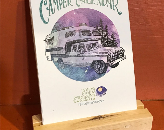 Featured listing image: 2019 Camper Calendar, Desk Calendar