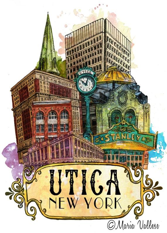 Utica Doors Art Print Utica New York Utica Club Door Art Stanley Theater Door Architecture Utica NY Architecture Art FX Matt Brewery