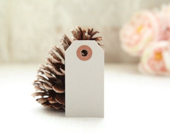 25 - GRAY - MINI Gift Tags - 2 3/4 x 1 3/8, Packing Tags, Shipping Tags, Holiday Tags, Favor Tags