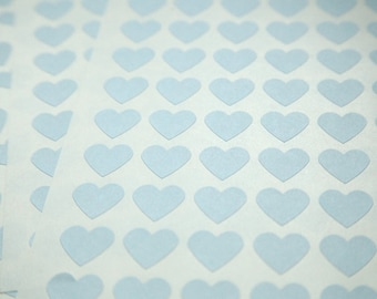 108 Blue Heart Stickers - FREE SHIPPING with other purchase