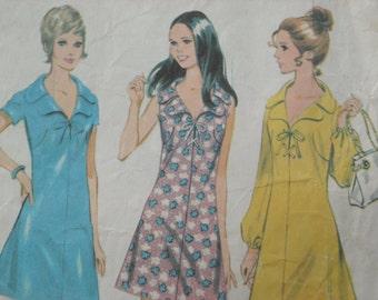 adorable vintage 1970 McCall's dress pattern size 14