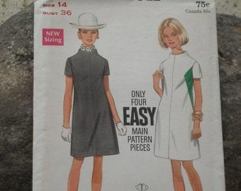 Adorable simple Butterick dress pattern Size 14 Bust 36