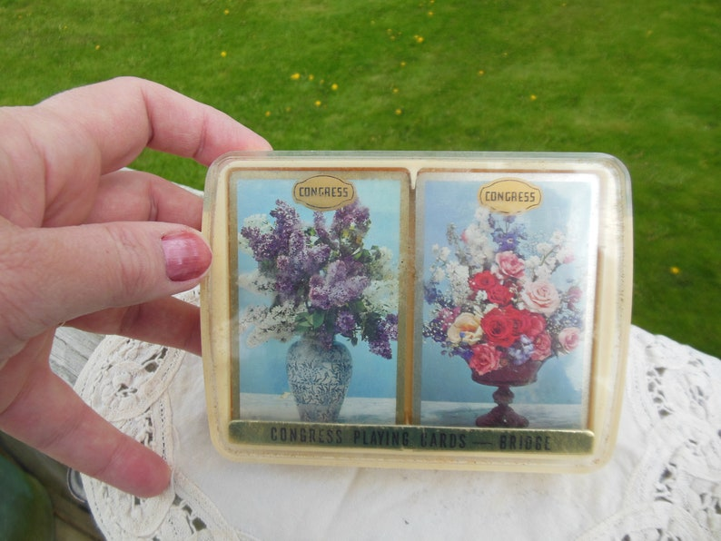 NIP New in Package circa 1960s 2 Decks vintage Congress Playing Cards for Bridge