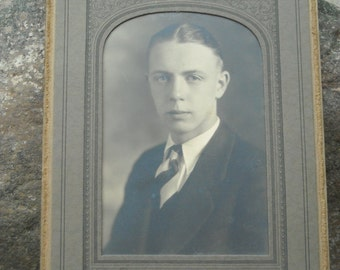 handsome young man parlor photo