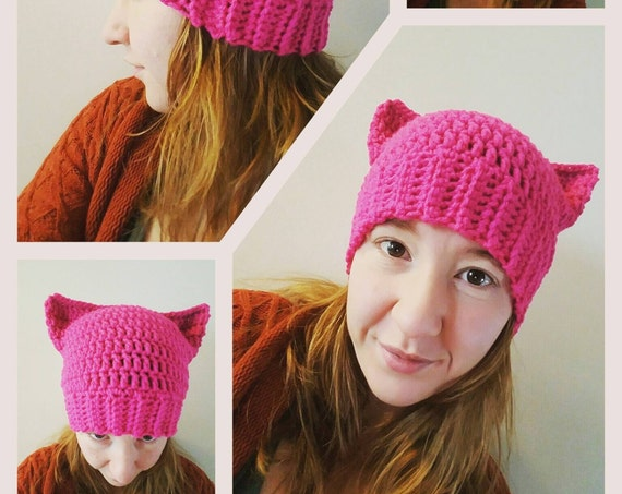 Women's Pussy Hat Project, Baby Girl Pussy Hat, Girl Boss Pussy Hat, Women's Kitty Hat, Baby Girl Kitty Hat, Nasty Woman Hat, Resist Hat