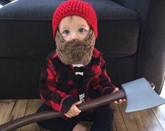 Toddler Beard Hat, Baby Beard Hat, Beard Hats Children, Crochet Bearded Beanie, Mustache Baby Shower, Mustache Party, Mustache Birthday