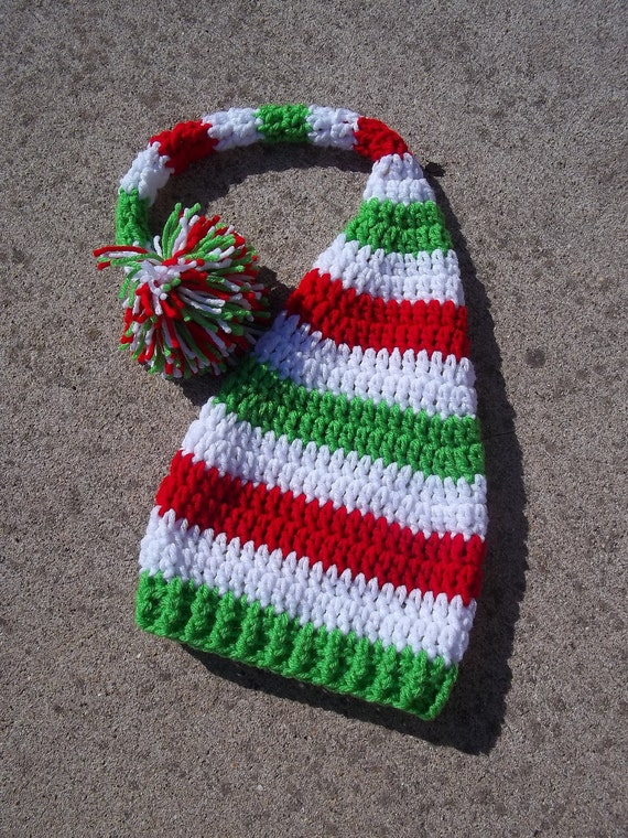 Baby Elf Hat, Baby Elf Hat Green, Baby Elf Costume, Christmas Baby Outfit, Christmas Baby Shower, Baby's First Christmas Outfit