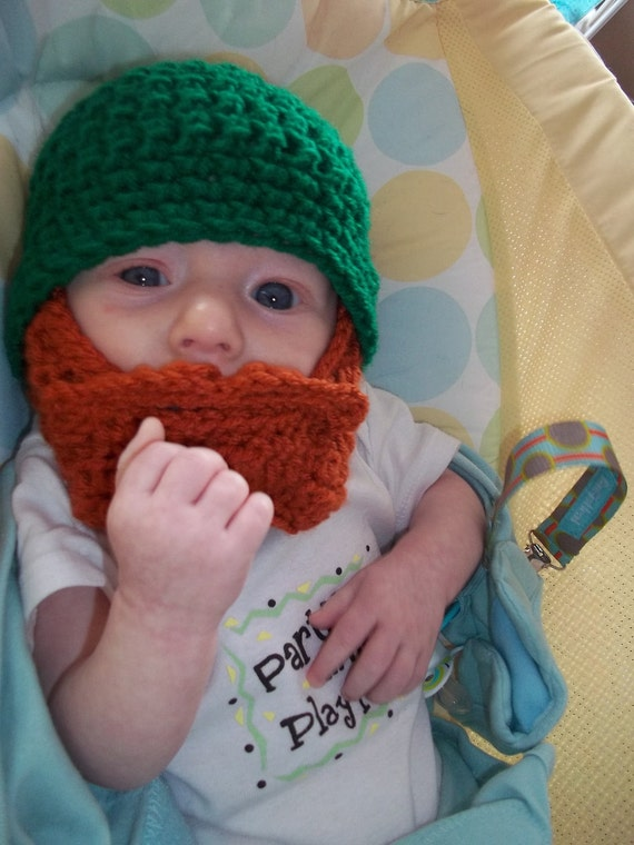 St. Patrick's Day Baby Outfit, St. Patrick's Day Baby Shower, Baby Leprechaun Costume, Irish Baby Beard, Irish Baby Gift, First Birthday