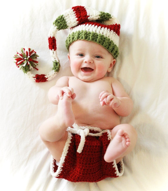Baby's First Christmas Outfit, Newborn Christmas Hat Outfit, Toddler Christmas Outfit, Christmas Prop Photography, Newborn Baby Elf
