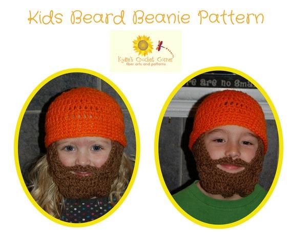 Boys Lumberjack Crochet Pattern, Boys Beard Hat Crochet Pattern, Boys Beard Beanie Crochet Pattern, Child Beard Hat Crochet Pattern