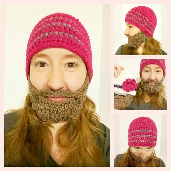 Beard Hat for Women, Lumberjack Adult Costume, Lumberjack Christmas Party, Family Christmas Card, Christmas Gift for Girlfriend Her Mom Girl