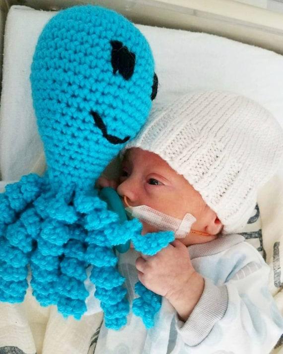 Preemie Octopus Comfort, NICU Baby Gift, NICU Baby Octopus, Preemie Lovie, Octopus Baby Toy,  Preemie Octopus Baby Gift, Preemie Gift