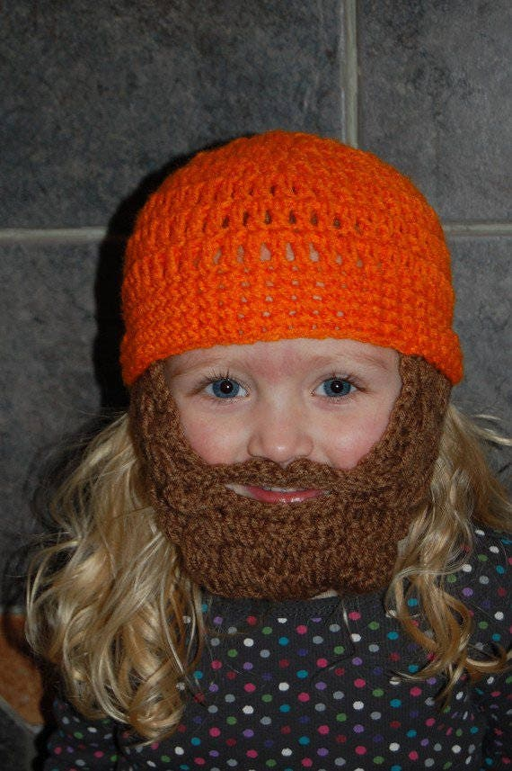Hunter Costume for Girls, Hunter Costume Boy, Lumberjack Costume, Beard Hat Adult, Beard Hat Baby, Beard Hat Toddler, Beard Beanie Baby