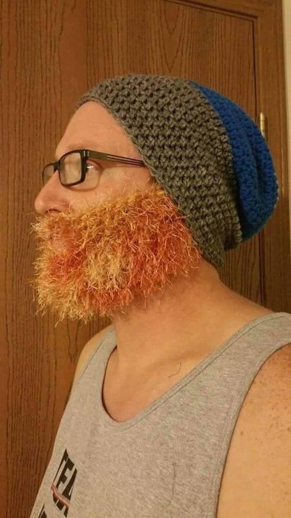 Beard Hat Adult for Men Women Kid, Lumberjack Adult Costume Christmas Party, Family Christmas Card, Christmas Gift for Boyfriend Him Dad Men