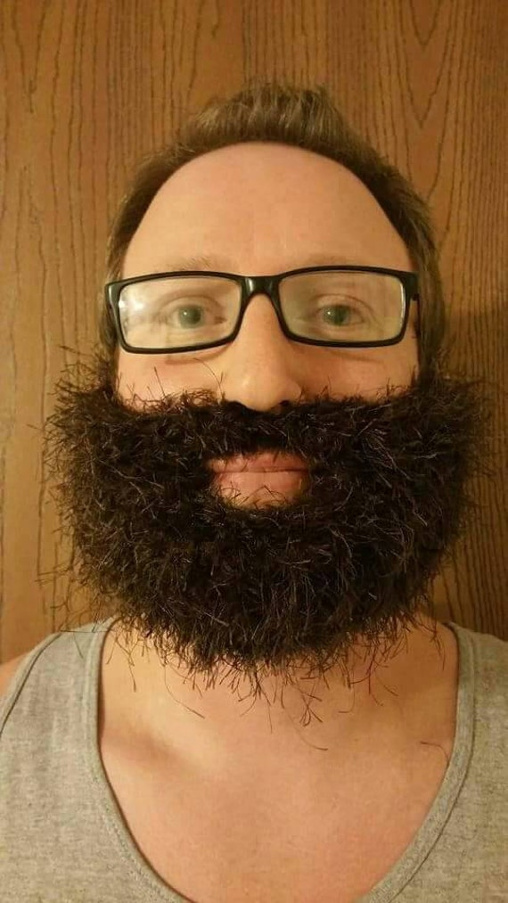 Fake Beard, Costume Beard, Cosplay Beard, Adult Beard, Halloween Beard, Lumberjack Costume, Crochet, Knit Beard