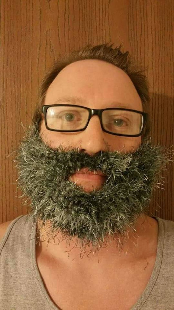 Fake Beard, Costume Beard, Cosplay Beard, Adult Beard, Halloween Beard, Lumberjack Costume, Crochet, Knit Beard, Fuzzy Beard