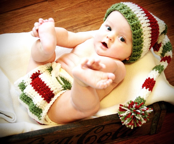 Baby's First Christmas Outfit Girl Boy, Newborn Christmas Hat Outfit, Toddler Christmas Outfit, Christmas Prop Photography, Newborn Baby Elf