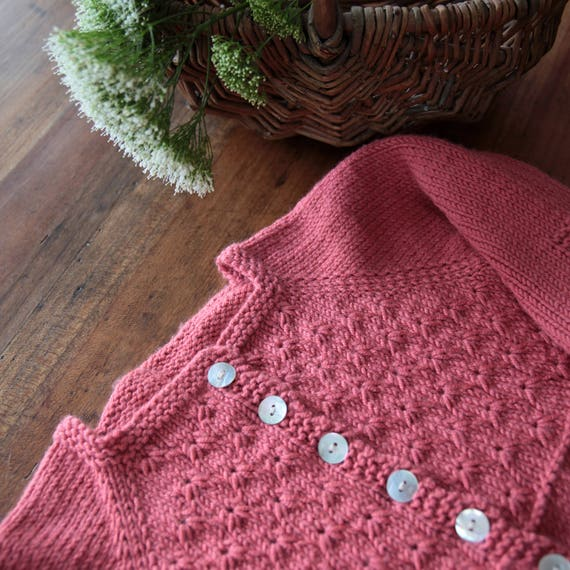 Alouette Pdf Knitting Pattern Fiche Tricot Pdf Cardigan Etsy