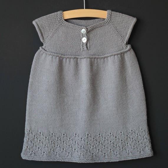 Broderie Dress Pdf Knitting Pattern Fiche Tricot Pdf Robe Etsy