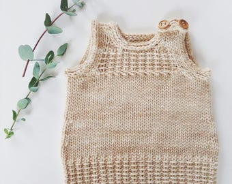 Little Vest or Dress PDF knitting pattern