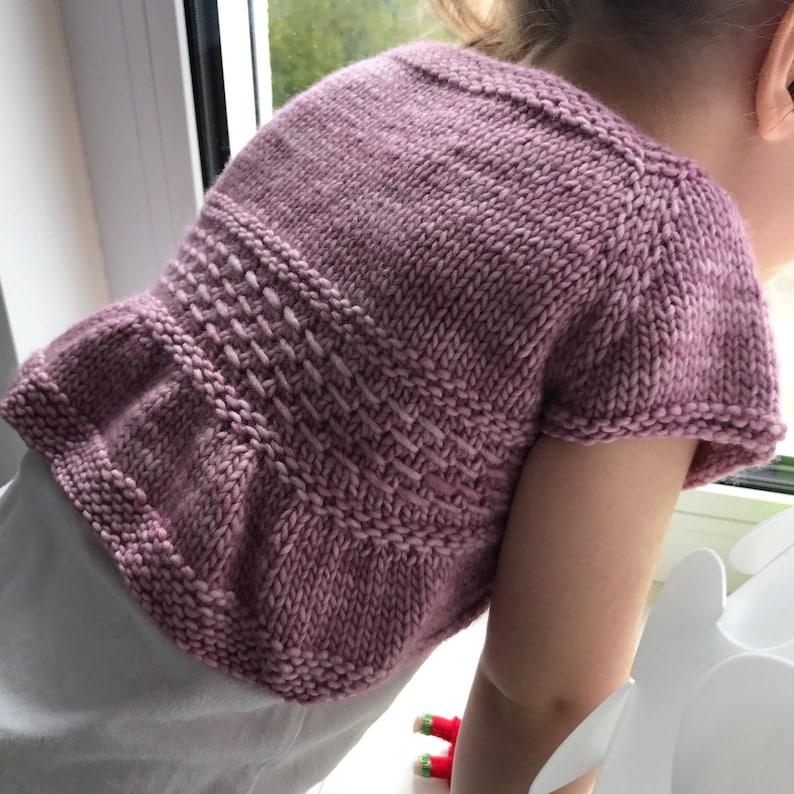 Entrechat Baby and Child Shrug PDF knitting pattern ...