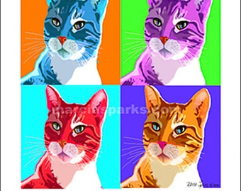Pop art Tabby cat